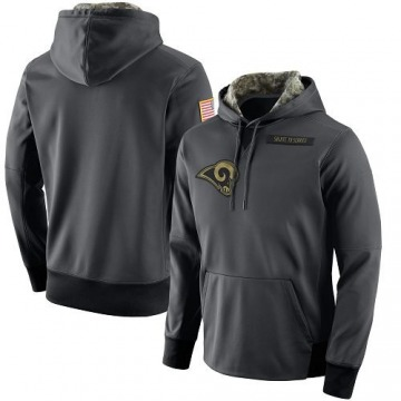 Men's Los Angeles Rams Anthracite Salute to Service Player Performance Hoodie -