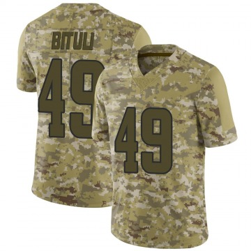 Men's Nike Los Angeles Rams Daniel Bituli Camo 2018 Salute to Service Jersey - Limited