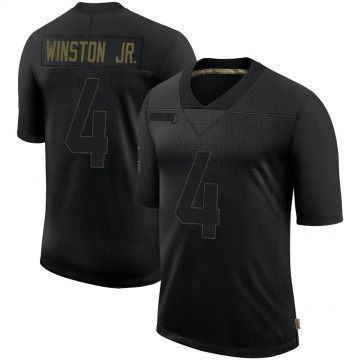 Men's Los Angeles Rams Easop Winston Jr. Black 2020 Salute To Service Jersey - Limited