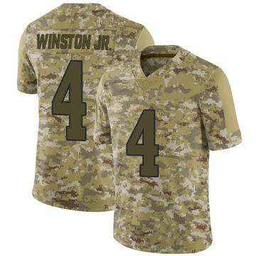 Men's Nike Los Angeles Rams Easop Winston Jr. Camo 2018 Salute to Service Jersey - Limited