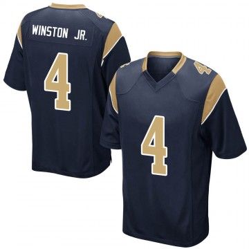 Men's Nike Los Angeles Rams Easop Winston Jr. Navy Team Color Jersey - Game