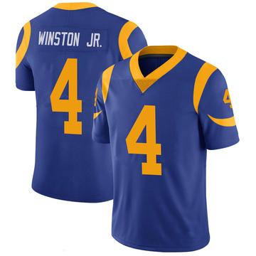 Men's Nike Los Angeles Rams Easop Winston Jr. Royal 100th Vapor Jersey - Limited