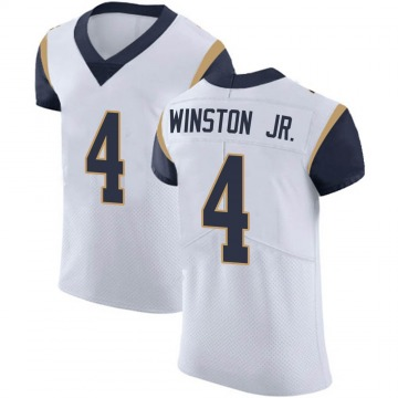 Men's Nike Los Angeles Rams Easop Winston Jr. White Vapor Untouchable Jersey - Elite