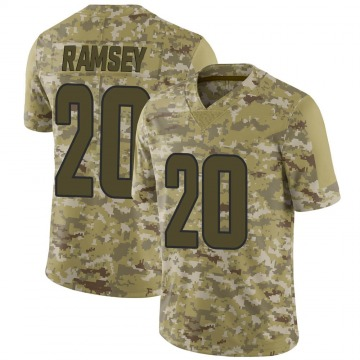 Men's Los Angeles Rams Jalen Ramsey Camo Jalen ey 2018 Salute to Service Jersey - Limited