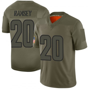 Men's Los Angeles Rams Jalen Ramsey Camo Jalen ey 2019 Salute to Service Jersey - Limited