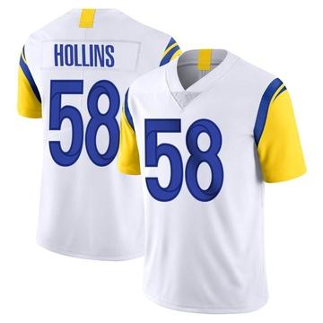 Men's Nike Los Angeles Rams Justin Hollins White Vapor Untouchable Jersey - Limited