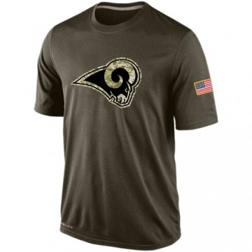 Men's Nike Los Angeles Rams Olive Salute To Service KO Performance Dri-FIT T-Shirt -
