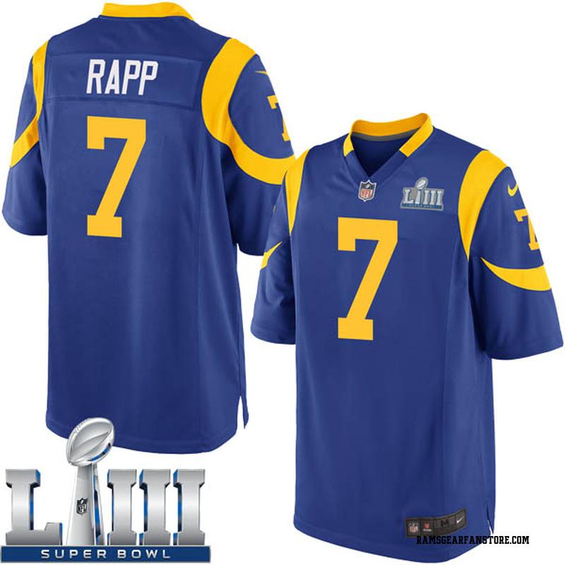 290ab5f4 Men's Nike Los Angeles Rams Taylor Rapp Royal Alternate Super Bowl LIII  Bound Jersey - Game