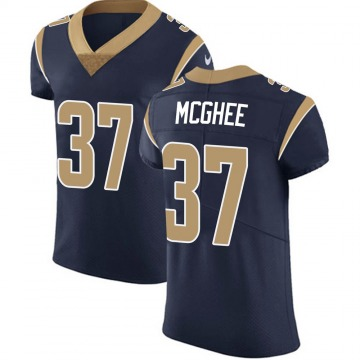 Men's Los Angeles Rams Tyrique McGhee Navy Team Color Vapor Untouchable Jersey - Elite