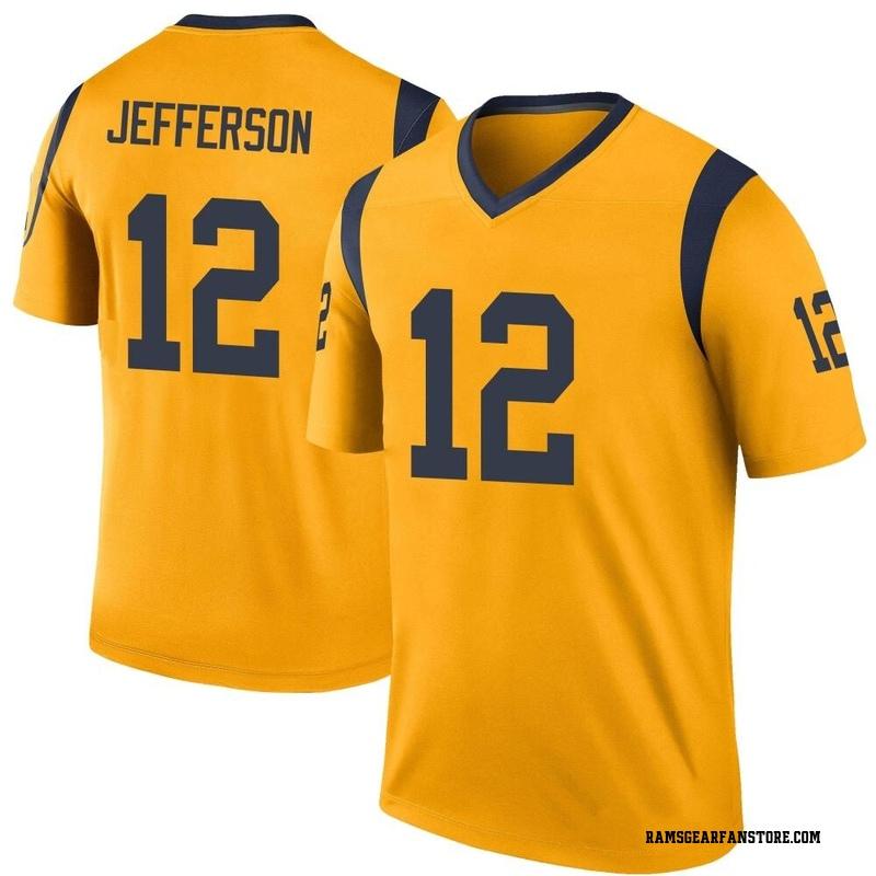 Men's Nike Los Angeles Rams Van Jefferson Gold Color Rush Jersey - Legend