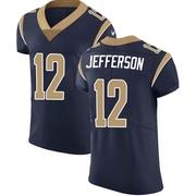 Men's Nike Los Angeles Rams Van Jefferson Navy Team Color Vapor Untouchable Jersey - Elite