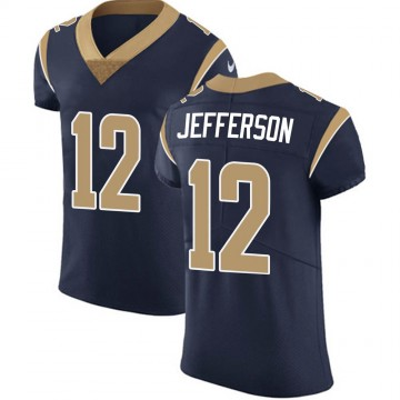 Men's Los Angeles Rams Van Jefferson Navy Team Color Vapor Untouchable Jersey - Elite