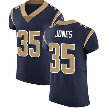 Men's Los Angeles Rams Xavier Jones Navy Team Color Vapor Untouchable Jersey - Elite