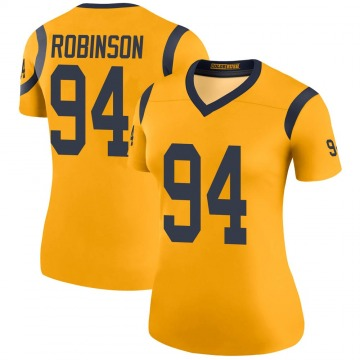 Women's Nike Los Angeles Rams A'Shawn Robinson Gold Color Rush Jersey - Legend