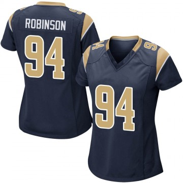 Women's Nike Los Angeles Rams A'Shawn Robinson Navy Team Color Jersey - Game