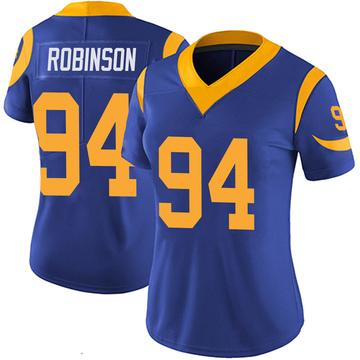 Women's Nike Los Angeles Rams A'Shawn Robinson Royal 100th Vapor Jersey - Limited