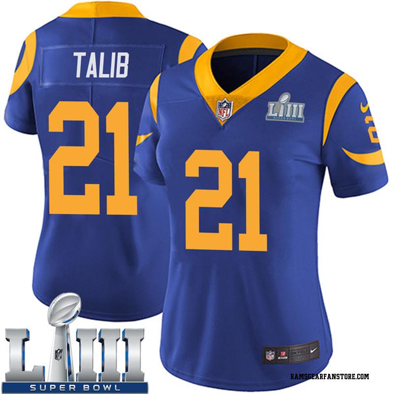 4c0fa29e87 Women's Nike Los Angeles Rams Aqib Talib Royal Alternate Super Bowl LIII  Bound Vapor Untouchable Jersey - Limited