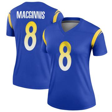 Women's Nike Los Angeles Rams Austin MacGinnis Royal Jersey - Legend