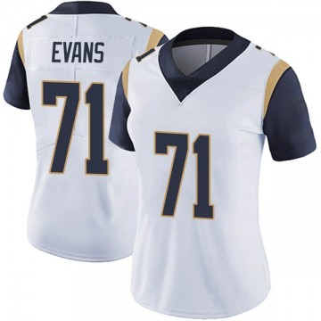 Women's Nike Los Angeles Rams Bobby Evans White Vapor Untouchable Jersey - Limited
