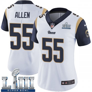 Women's Nike Los Angeles Rams Brian Allen White Super Bowl LIII Bound Vapor Untouchable Jersey - Limited