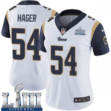 Women's Nike Los Angeles Rams Bryce Hager White Super Bowl LIII Bound Vapor Untouchable Jersey - Limited