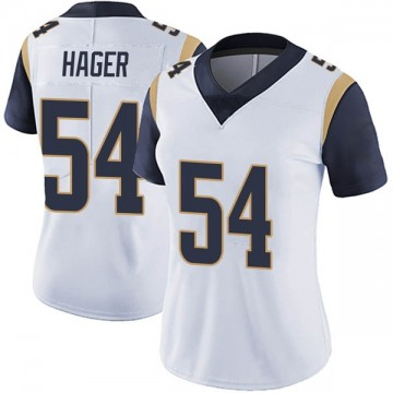 Women's Nike Los Angeles Rams Bryce Hager White Vapor Untouchable Jersey - Limited