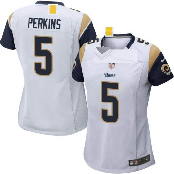 Women's Nike Los Angeles Rams Bryce Perkins White Jersey - Game