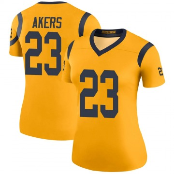 Women's Nike Los Angeles Rams Cam Akers Gold Color Rush Jersey - Legend