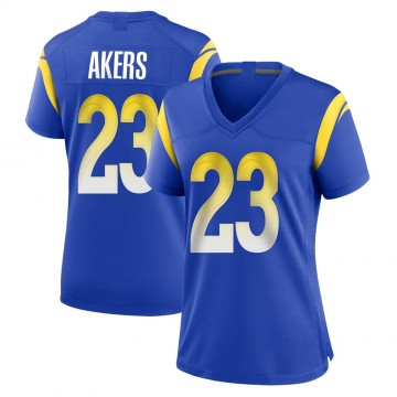 Women's Nike Los Angeles Rams Cam Akers Royal Alternate Jersey - Game