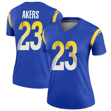 Women's Nike Los Angeles Rams Cam Akers Royal Jersey - Legend
