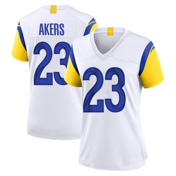 Women's Nike Los Angeles Rams Cam Akers White Jersey - Game