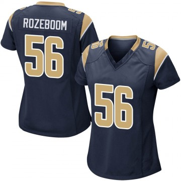 Women's Nike Los Angeles Rams Christian Rozeboom Navy Team Color Jersey - Game
