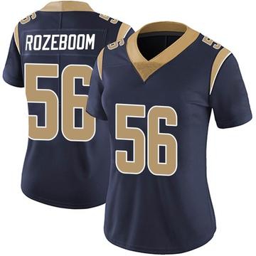 Women's Nike Los Angeles Rams Christian Rozeboom Navy Team Color Vapor Untouchable Jersey - Limited