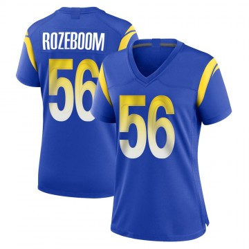 Women's Nike Los Angeles Rams Christian Rozeboom Royal Alternate Jersey - Game