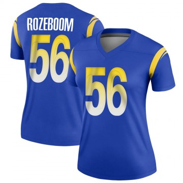 Women's Nike Los Angeles Rams Christian Rozeboom Royal Jersey - Legend