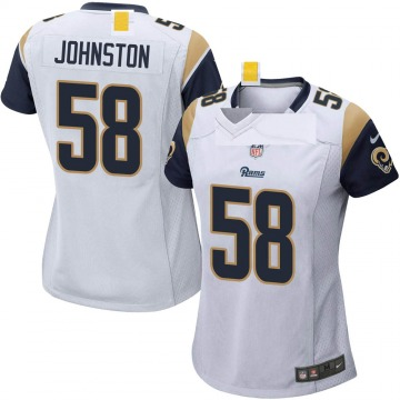 Women's Nike Los Angeles Rams Clay Johnston White Jersey - Game