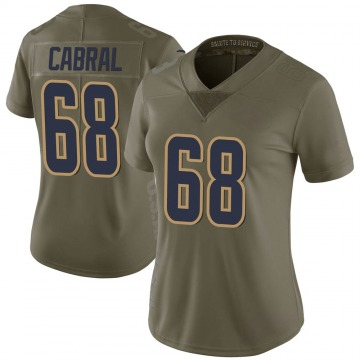 Women's Nike Los Angeles Rams Cohl Cabral Green 2017 Salute to Service Jersey - Limited