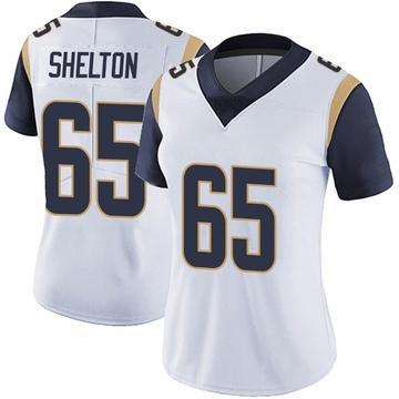 Women's Nike Los Angeles Rams Coleman Shelton White Vapor Untouchable Jersey - Limited