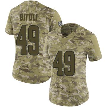 Women's Nike Los Angeles Rams Daniel Bituli Camo 2018 Salute to Service Jersey - Limited