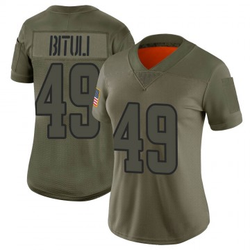 Women's Nike Los Angeles Rams Daniel Bituli Camo 2019 Salute to Service Jersey - Limited
