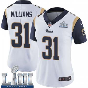 Women's Nike Los Angeles Rams Darious Williams White Super Bowl LIII Bound Vapor Untouchable Jersey - Limited