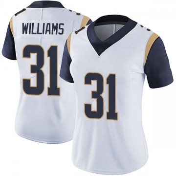 Women's Nike Los Angeles Rams Darious Williams White Vapor Untouchable Jersey - Limited