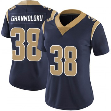 Women's Nike Los Angeles Rams Dayan Ghanwoloku Navy Team Color Vapor Untouchable Jersey - Limited