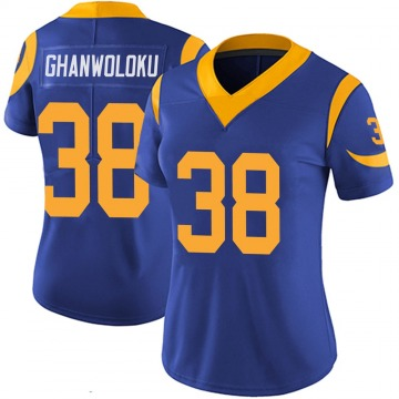 Women's Nike Los Angeles Rams Dayan Ghanwoloku Royal 100th Vapor Jersey - Limited