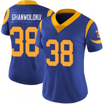 Women's Nike Los Angeles Rams Dayan Ghanwoloku Royal Alternate Vapor Untouchable Jersey - Limited