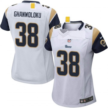 Women's Nike Los Angeles Rams Dayan Ghanwoloku White Jersey - Game