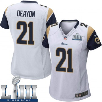Women's Nike Los Angeles Rams Donte Deayon White Super Bowl LIII Bound Jersey - Game