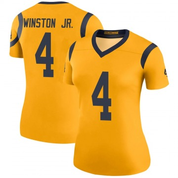 Women's Nike Los Angeles Rams Easop Winston Jr. Gold Color Rush Jersey - Legend