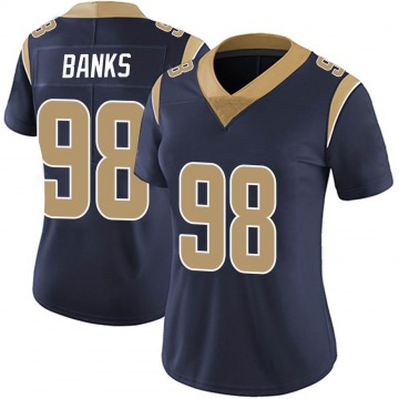 Women's Nike Los Angeles Rams Eric Banks Navy Team Color Vapor Untouchable Jersey - Limited