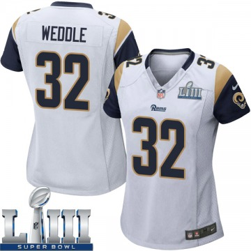 Women's Nike Los Angeles Rams Eric Weddle White Super Bowl LIII Bound Jersey - Game